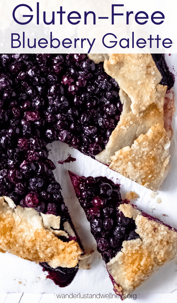 The perfect gluten-free blueberry galette just in time for fresh blueberry season! With fresh blueberries and a delicious gluten-free crust.