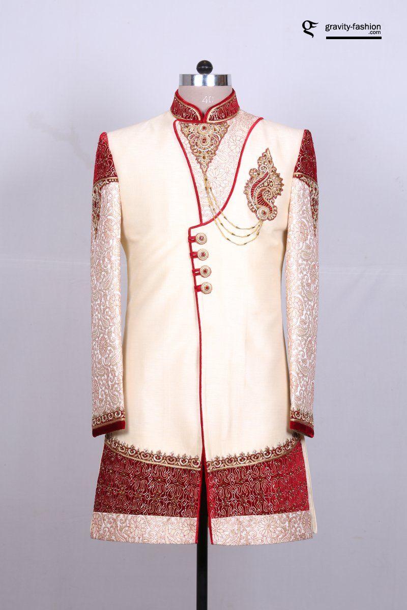 exclusive sherwani designs for groom in rajwadi look