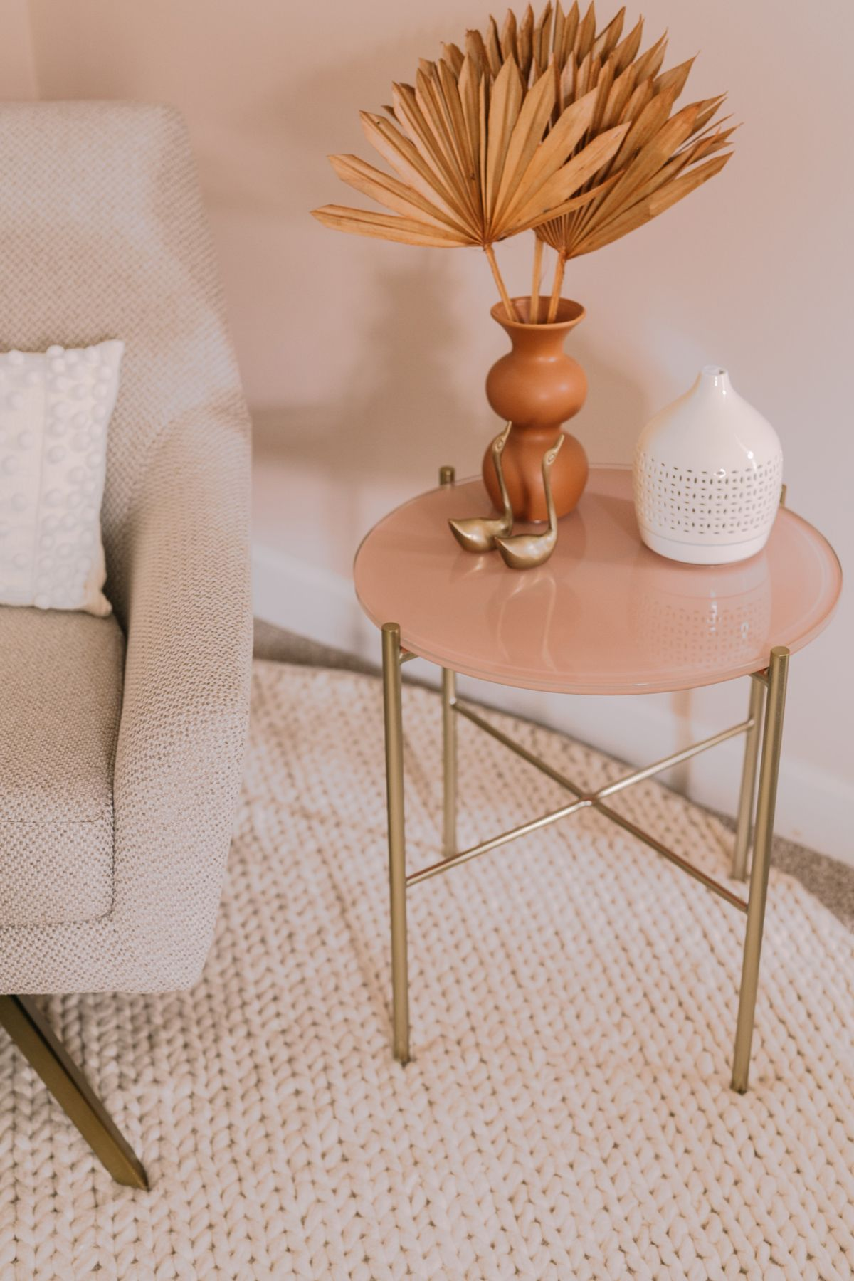 Silicus Pink Side Table Side Table Decor Living Room Table Decor Living Room Living Room Side Table [ 1800 x 1200 Pixel ]
