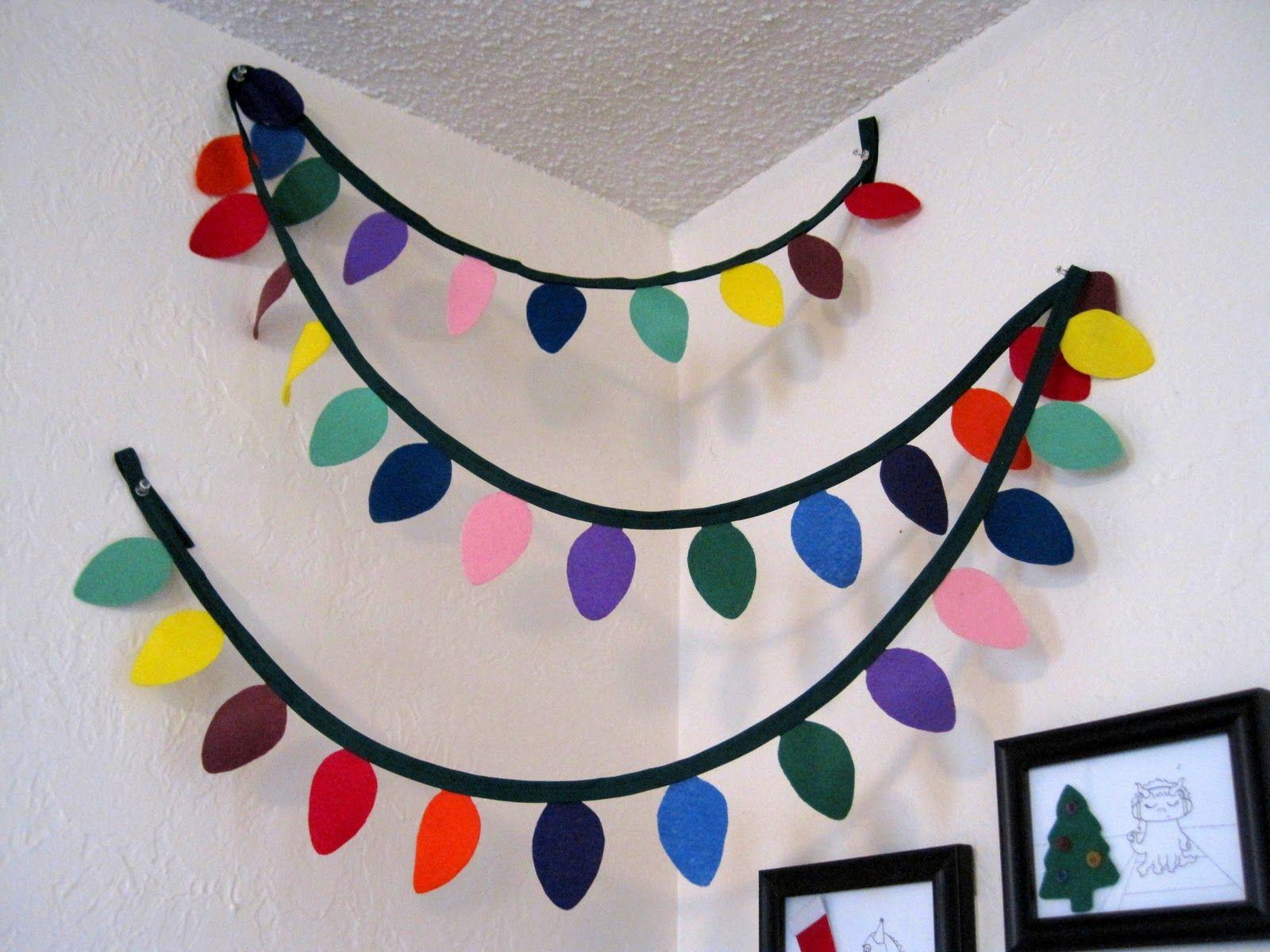 Christmas light garland cute idea made from felt