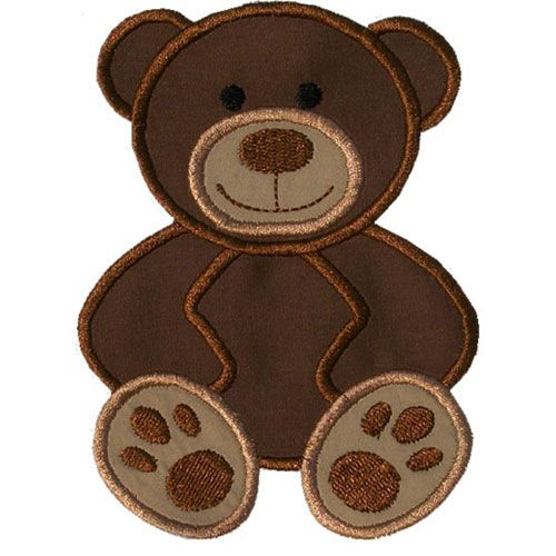 Teddy Bear Applique by HappyApplique.com | Embroidery | Pinterest