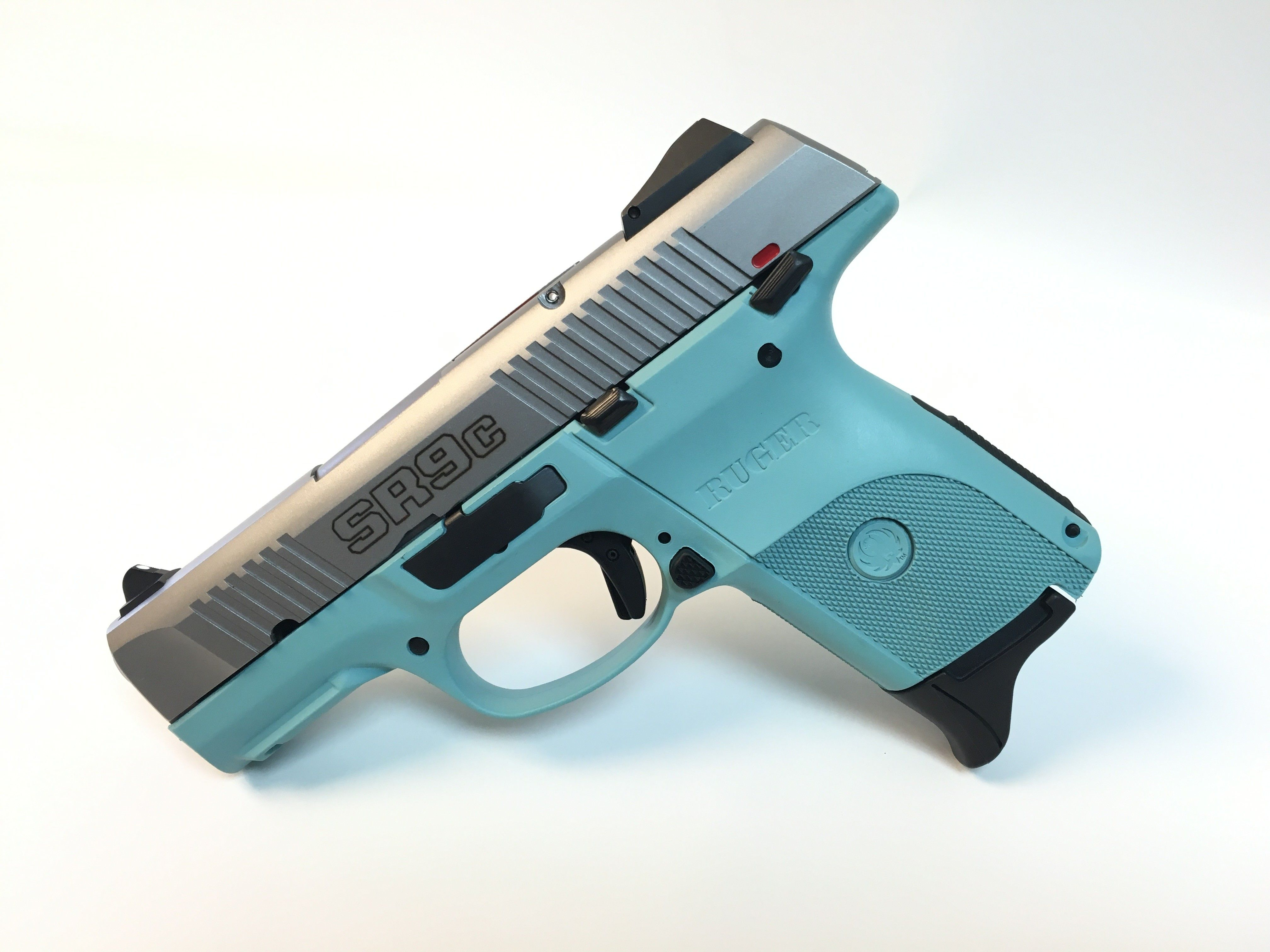 Tiffany Blue Ruger SR9C 9mm SS | Pistol | Hand guns, Guns