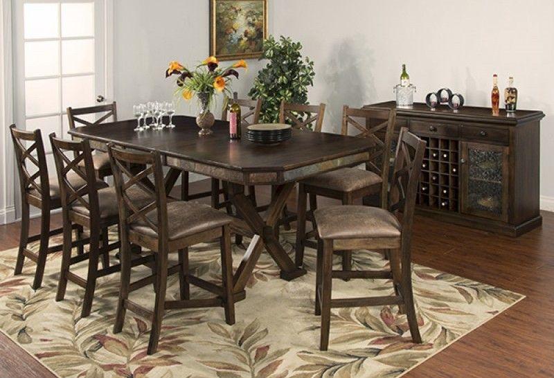 savannah antique charcoal wood dining table w adjustable height rh pinterest com