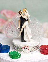 Funny Sexy Las Vegas Wedding Cake Topper