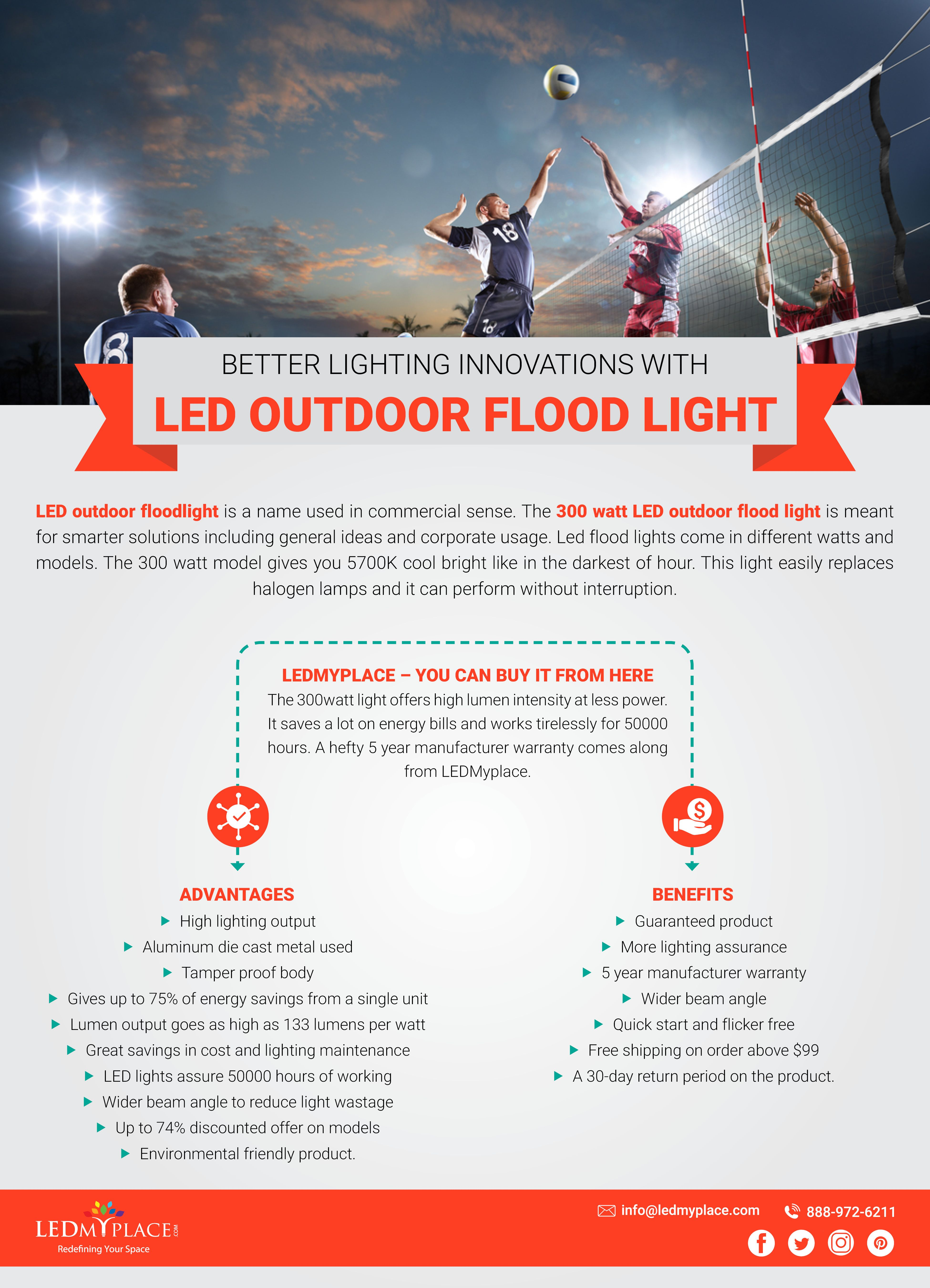 Better Lighting Innovations With LED Outdoor Flood Light
