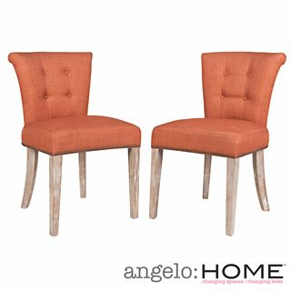 better living lambert orange dining chairs (set of 2) by better