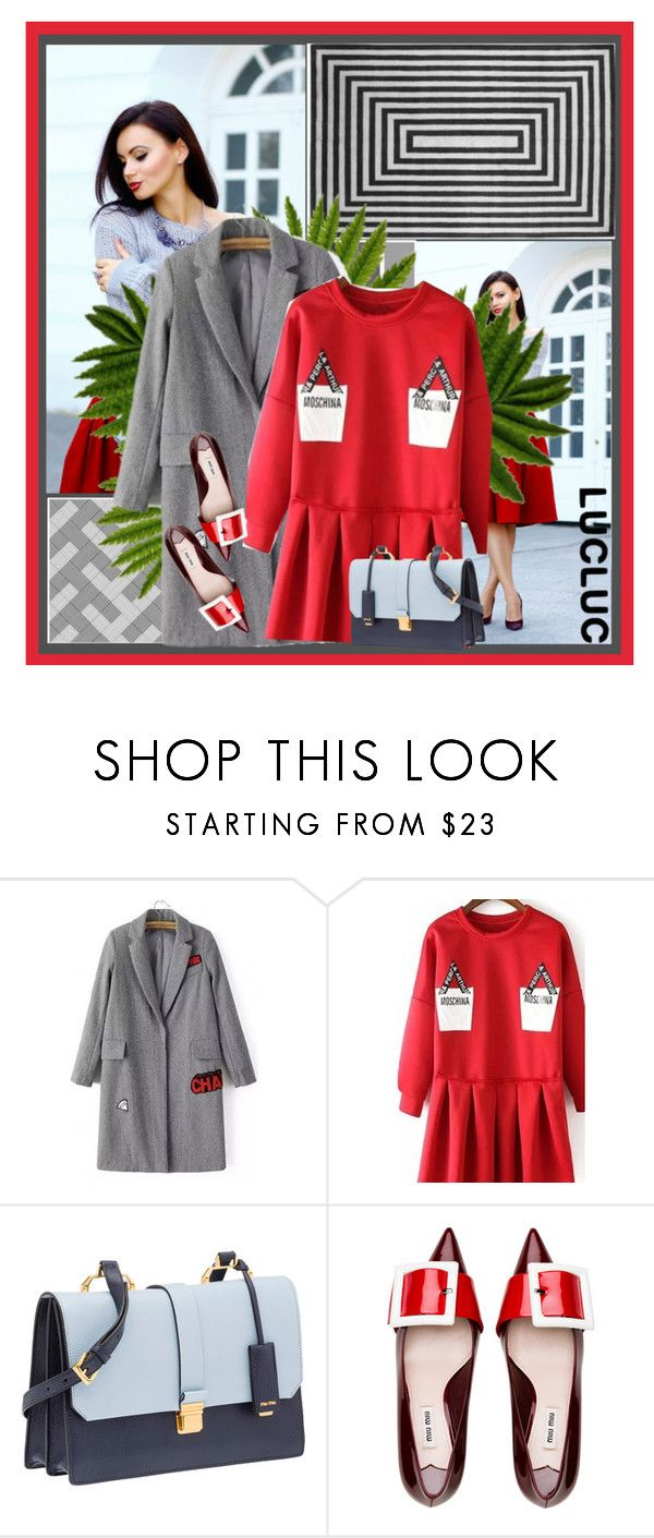 """""""New Grey Look"""" by frenzy-n ❤ liked on Polyvore featuring Miu Miu"""