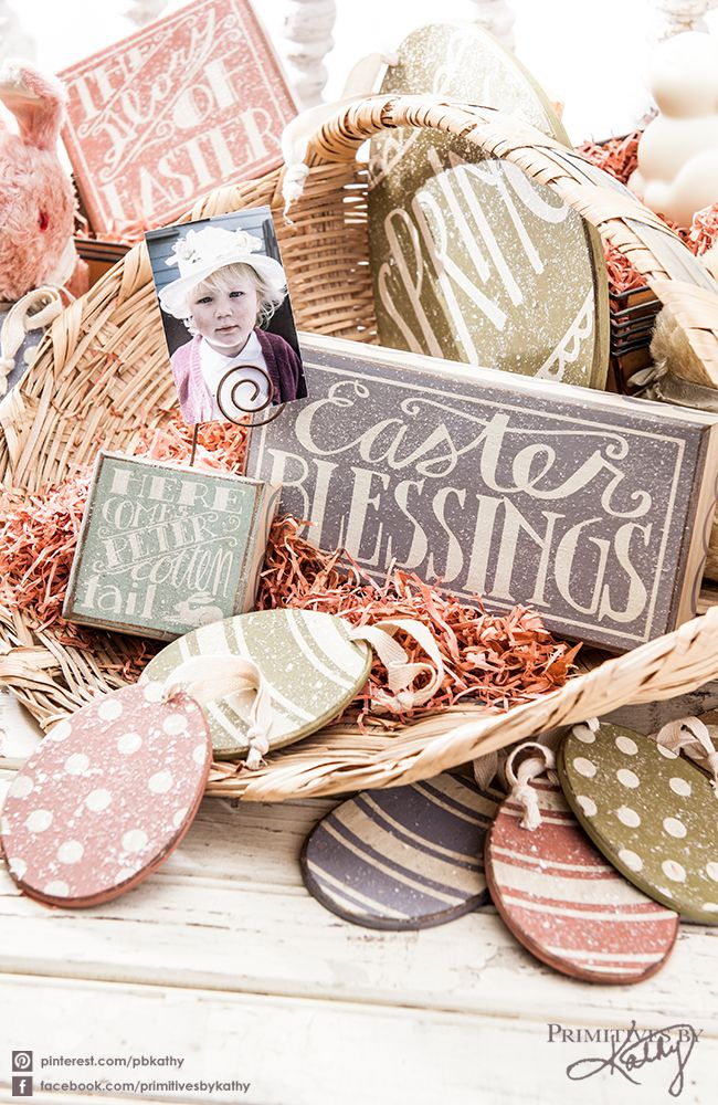 Easter Themed Home Decor Box Signs Easter-Spring Pinterest