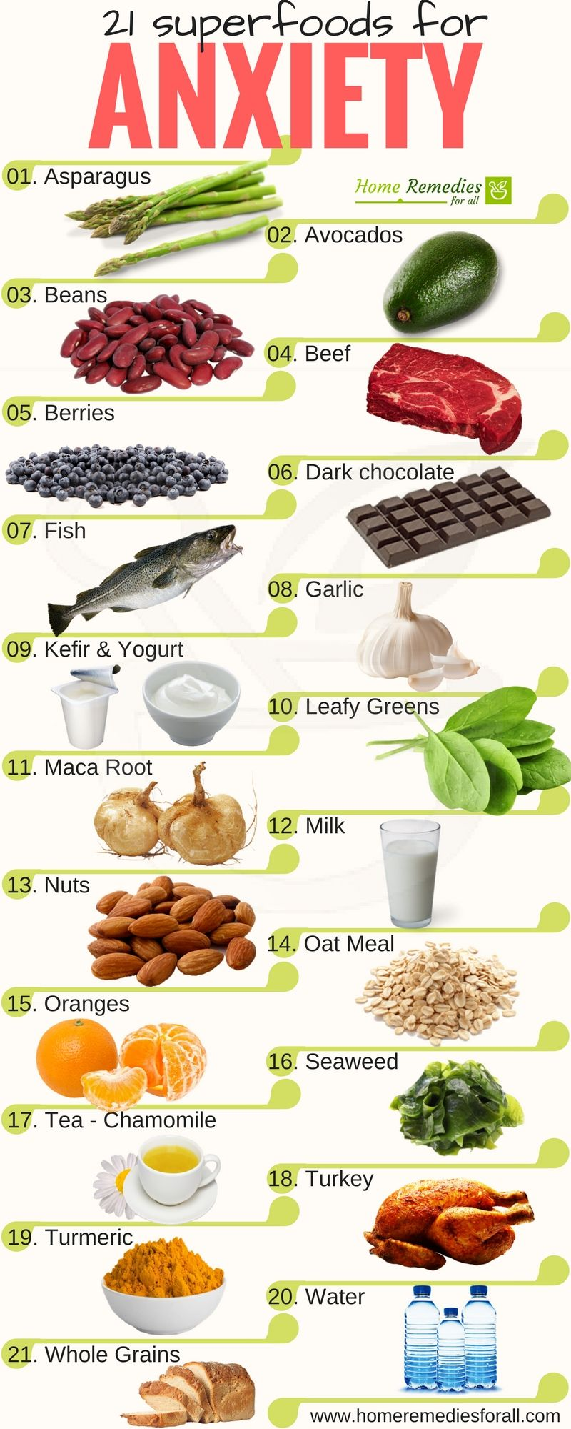 Get Rid Of Anxiety With These 21 Super Foods To Live Stress Free And