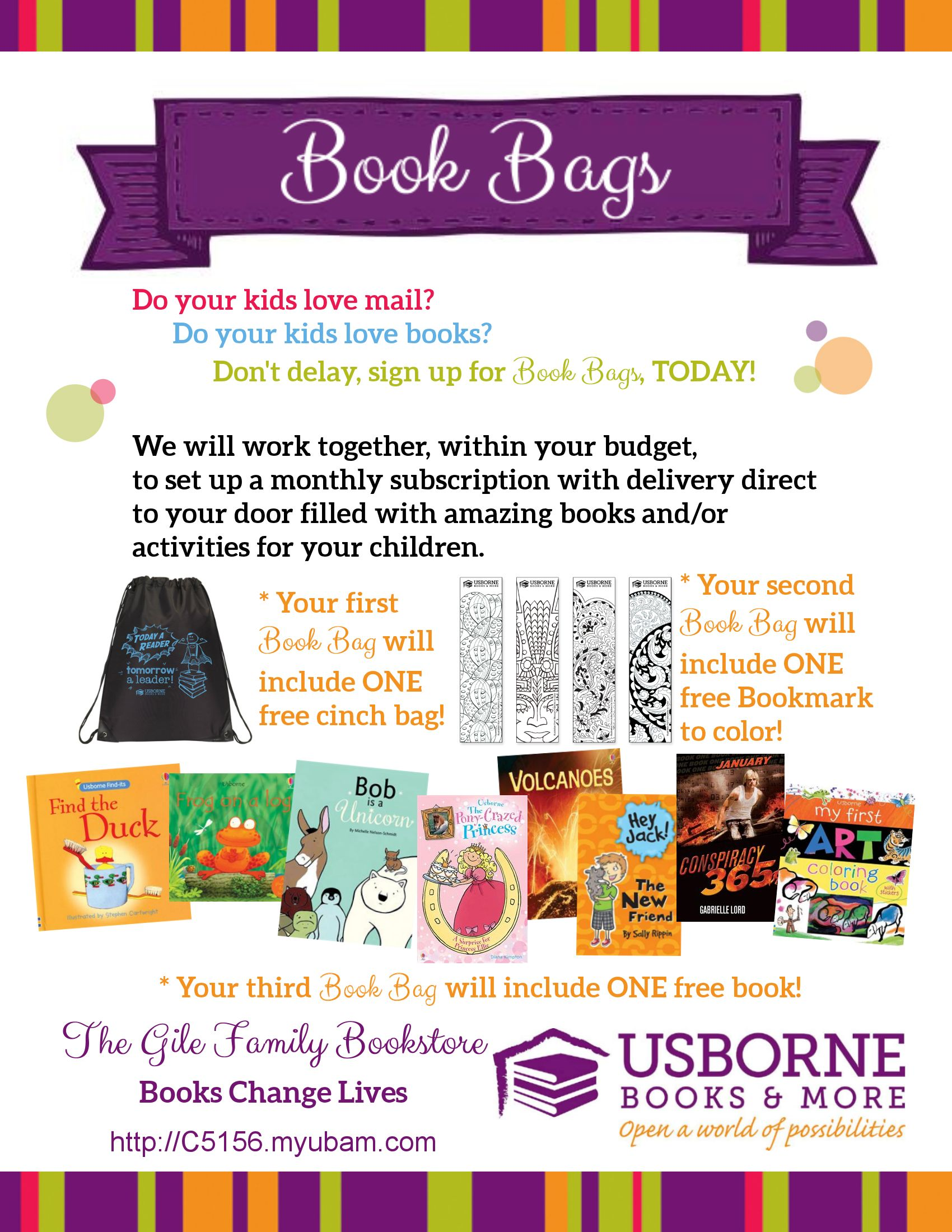 Sign up for Book Bags and have a package of literacy fun delivered to your door  sc 1 st  Pinterest & Sign up for Book Bags and have a package of literacy fun delivered ...