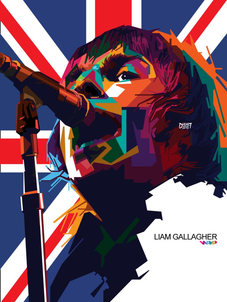 Liam Gallagher By Dhe Art On Deviantart Pop Art Artists Art Liam Gallagher