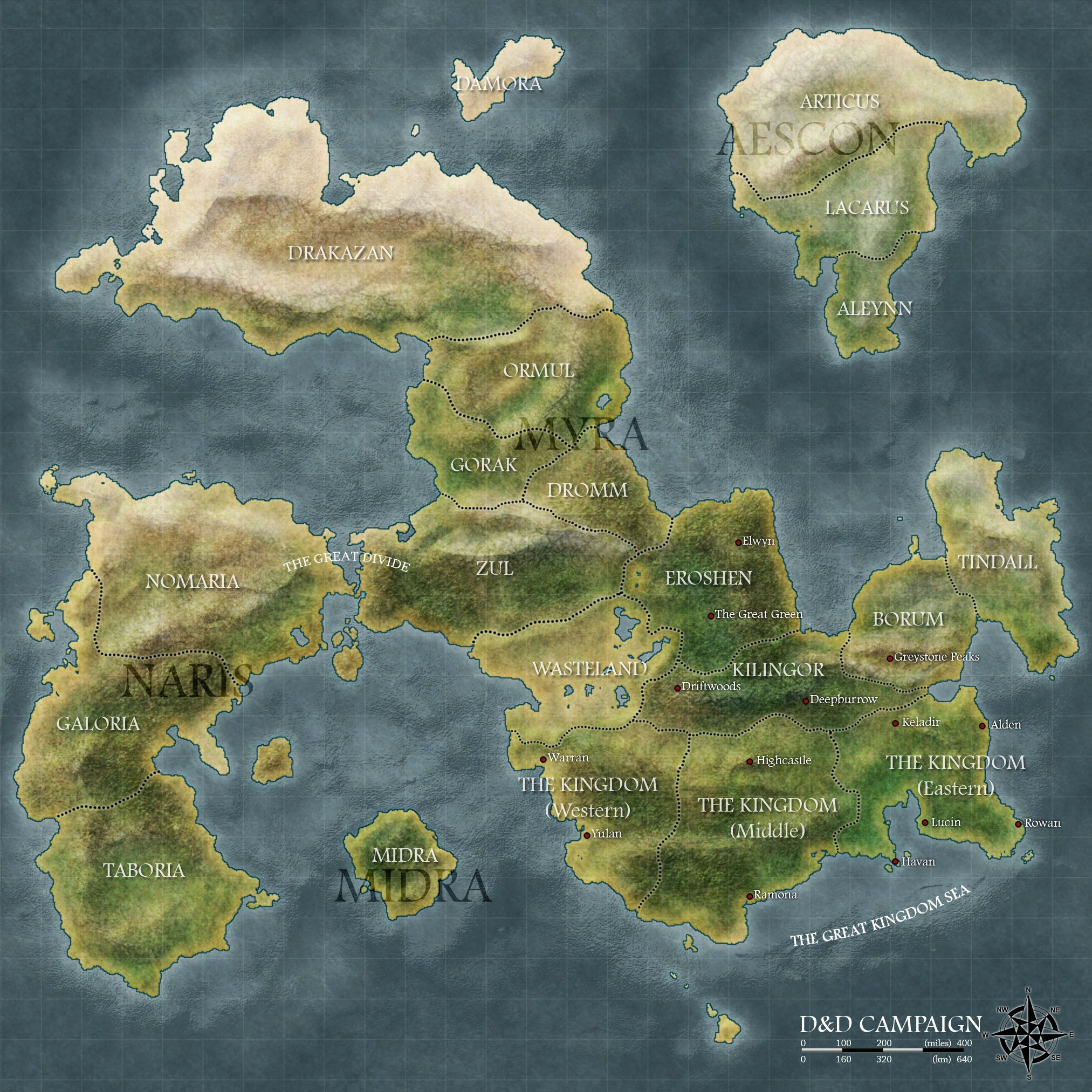 continent map maps projections