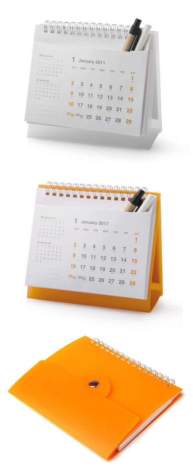 Calendar Ideas For Company : Desk calendar with pocket for pens corporate gifts