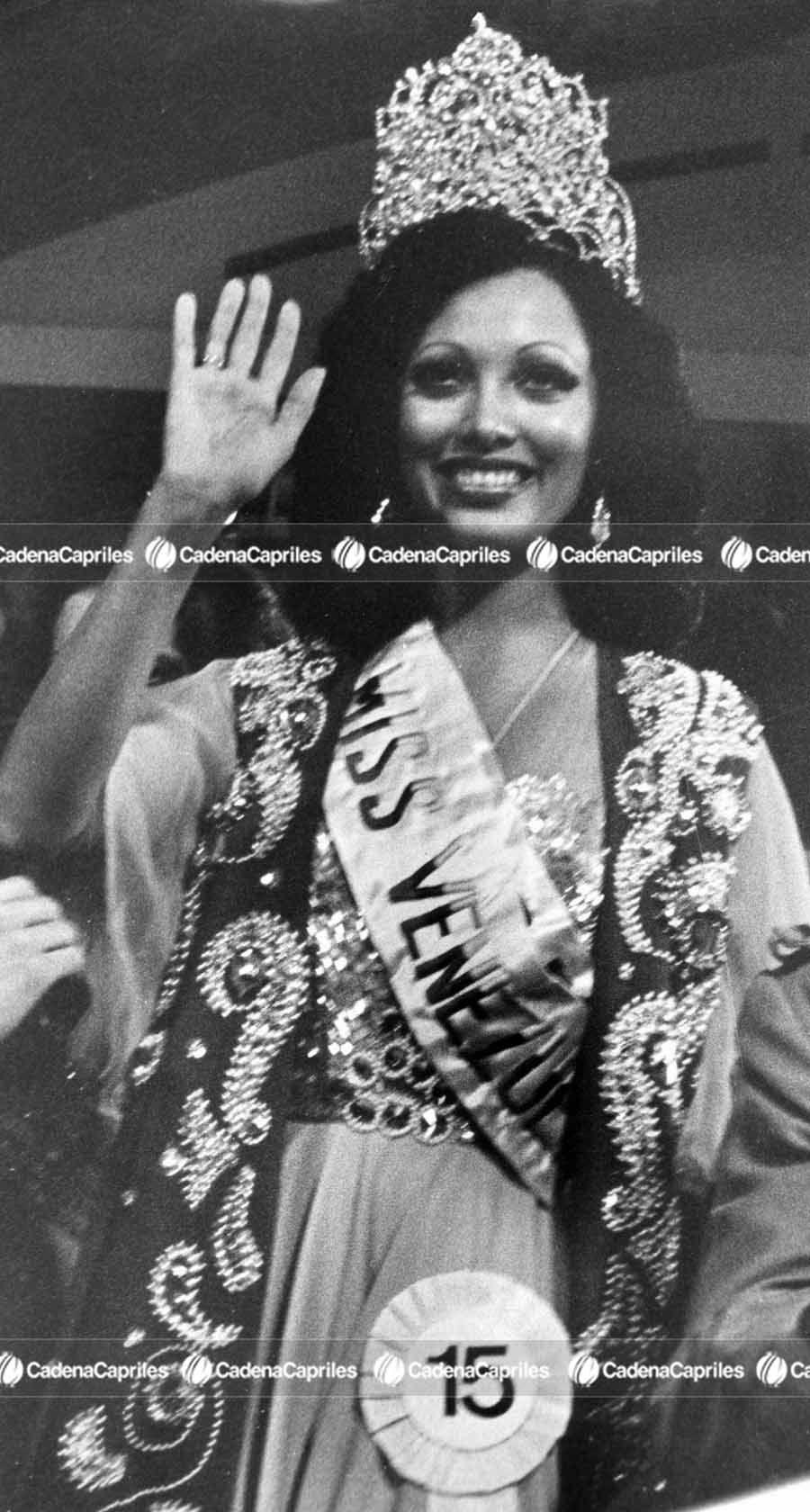 Miss Venezuela 1974, Neyla Moronta Sangronis. Foto: Archivo Fotográfico/Cadena Capriles