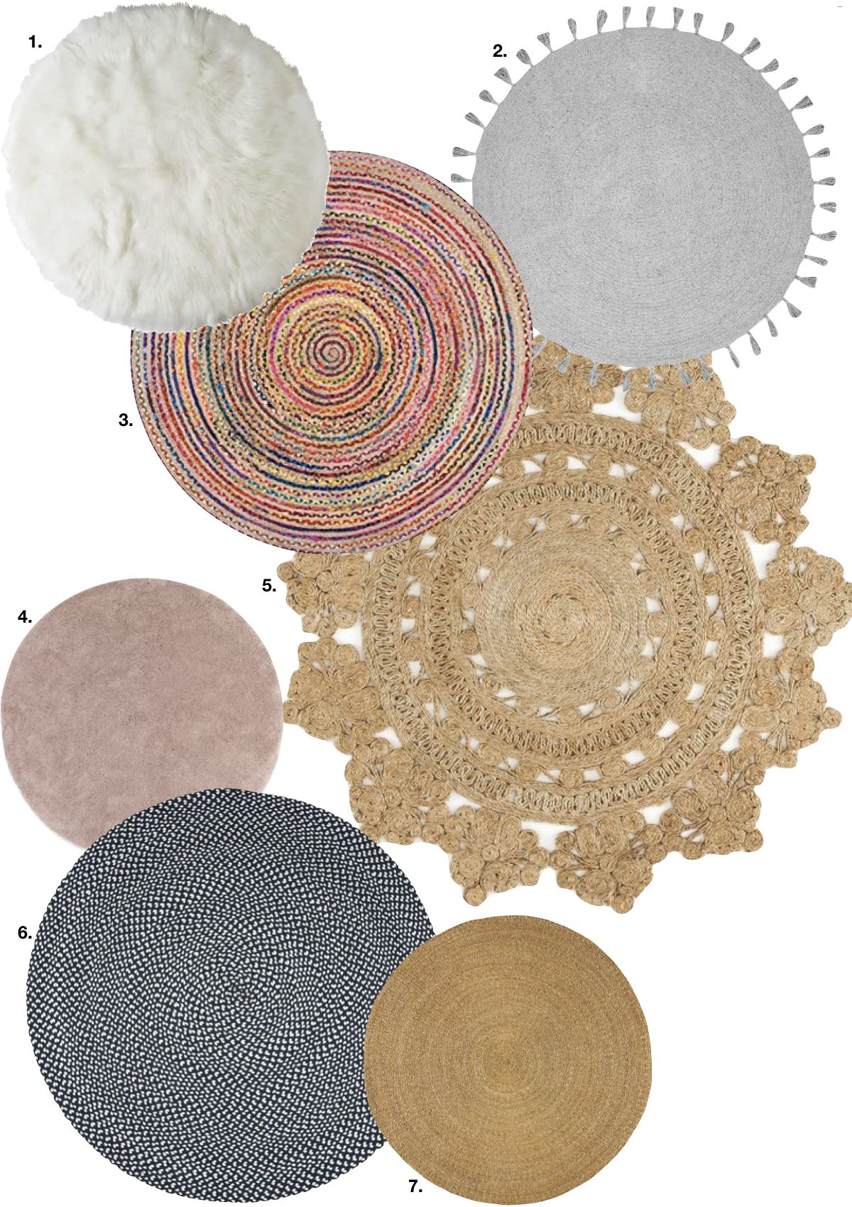 Tapis Rond Liste Chambre Adulte   Blog Déco   Clem Around The Corner  Shopping List Pour
