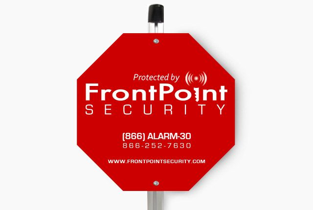 Yard Sign Frontpoint Security Security Systems Yard