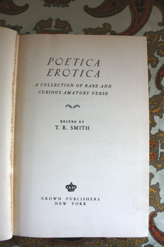 books Antique erotica