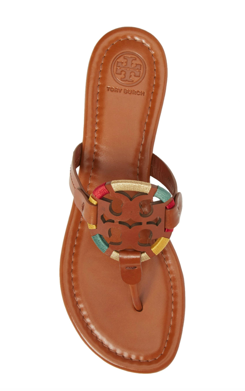 aa1737f13 Tory Burch Embroidered Miller Sandal in Vintage Vachetta  ToryBurch   ToryBurchSale