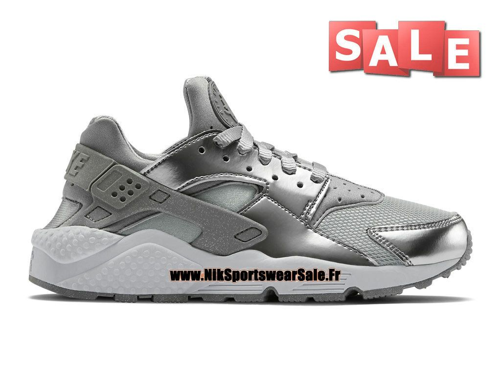 Nike Nike Air Huarache Run Premium Baskets pour homme gris