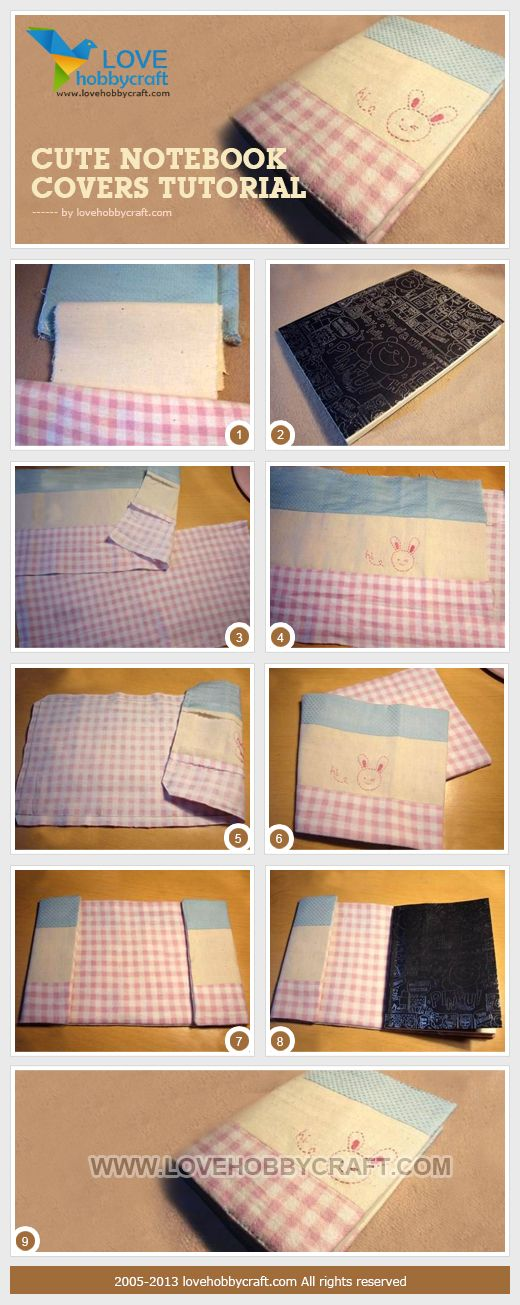 Cute notebook covers tutorial | Craft Ideas | Pinterest ...