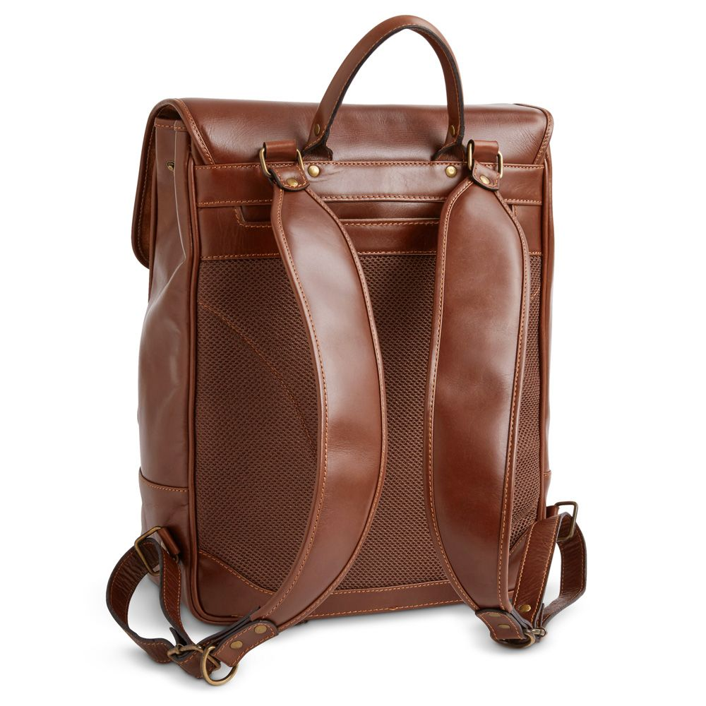 be1031acc8 Mosaic™ Chester Square Leather Flap Backpack - Features comfortable leather  handle grip - Adjustable leather