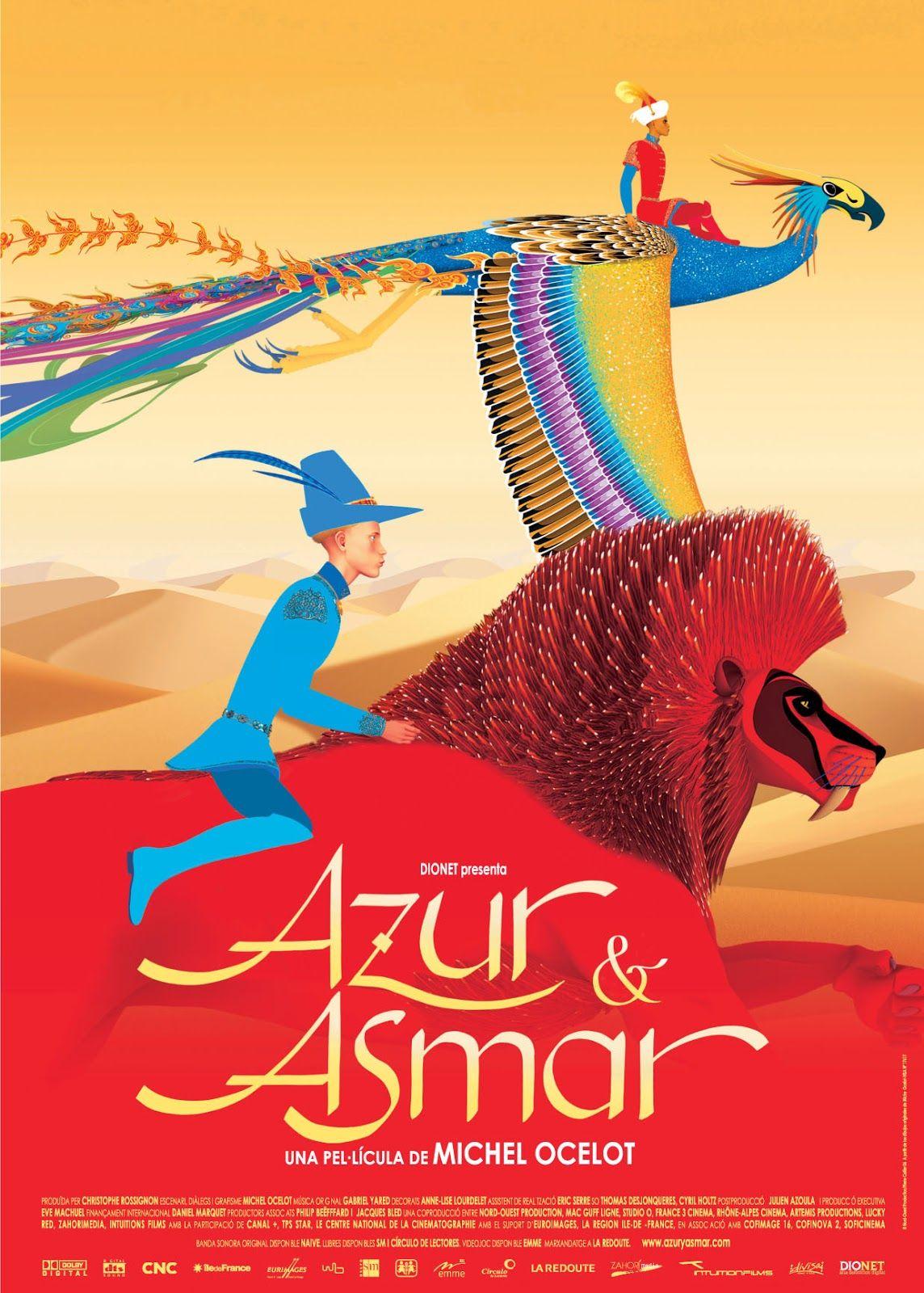 As Aventuras de Azur e Asmar; aventura; 2005; legendado; 99min