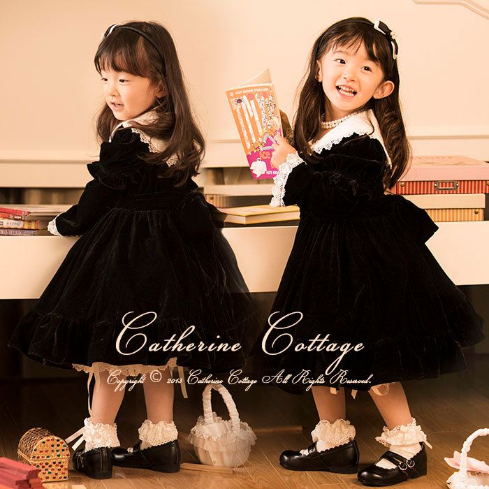 ce367421848e4 女の子のドレス ·  楽天市場 長袖ワンピース(女の子用)子供服 キッズ 入学式 黒