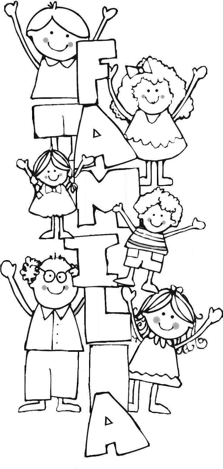Para Colorir Com Imagens Dia Da Familia Escola Evangelizacao