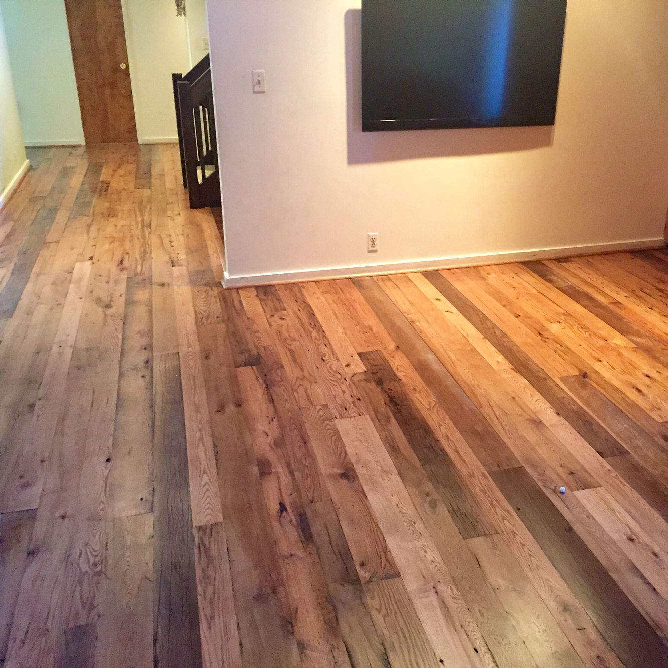 Reclaimed White And Red Oak Mix Finished With Bona Dts