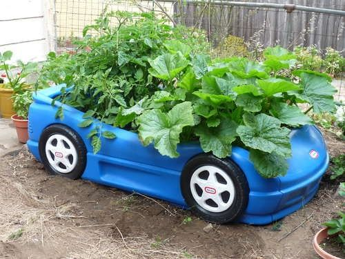 Race Car Veggie Box | Little tikes, Raised garden beds and Car bed