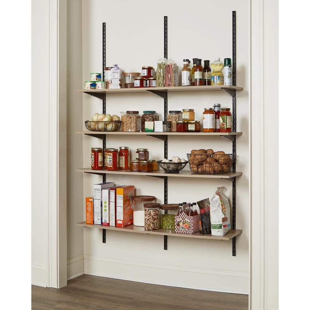 Rubbermaid Organic Ash Laminated Wood Shelf 12 In D X 72 In L 2110654 The Home Depot In 2020 Wood Shelves Wood Laminate White Wood Shelves