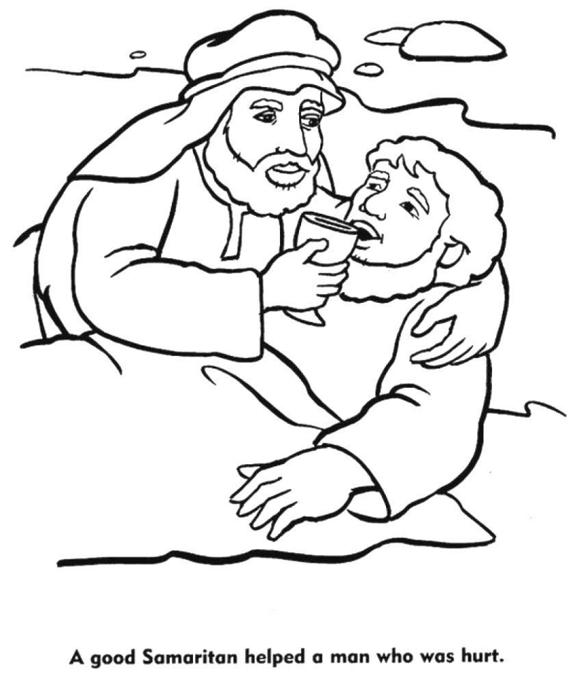 Good Samaritan Coloring Page Elegant Parables Jesus Coloring Pages