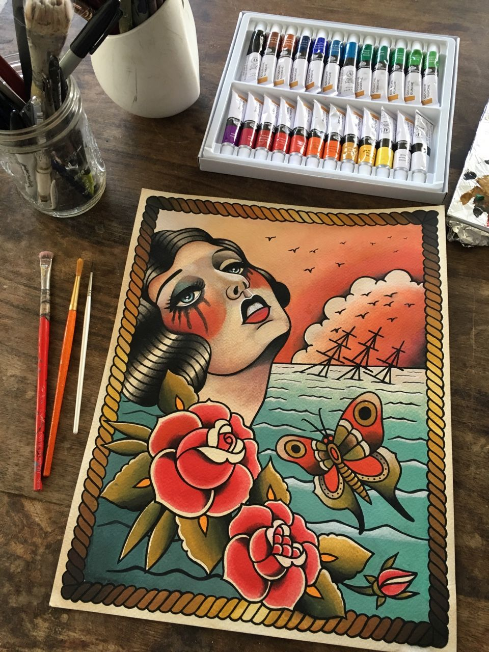 This Painting Is Done Www Parlortattooprints Com Art Tattoo