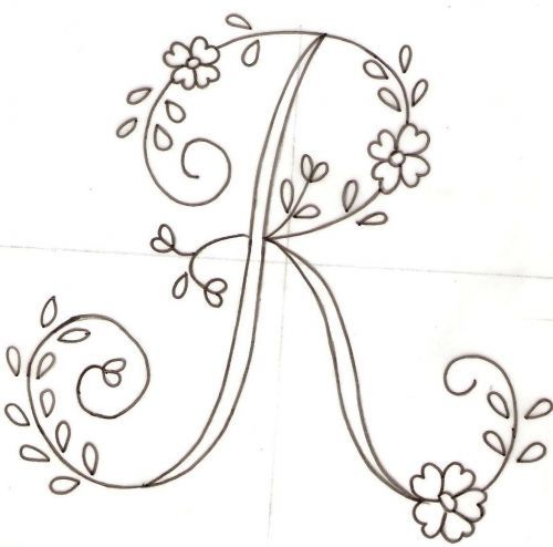Resultado de imagen para patrones de letras para bordar a mano