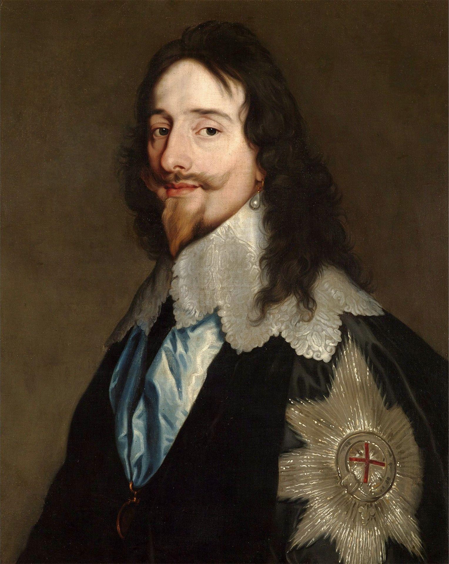 Portrait Of Charles I Stuart By Studio Of Anthony Van Dyck Ca