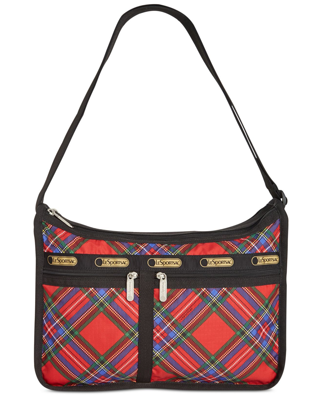 Lesportsac Deluxe Everyday Bag Cozy Plaid Red