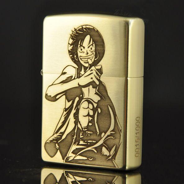 Etching Brass One Piece Luffy Zippo Limited Edition Zippo Limited Edition Engraved Zippo Zippo Lighter