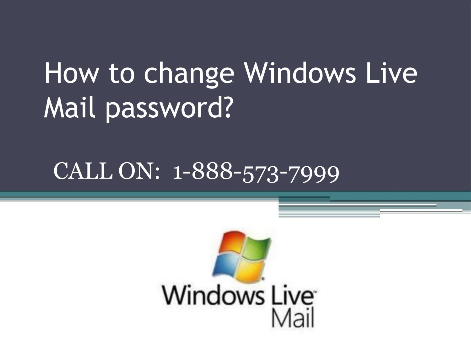 resetting windows live mail password