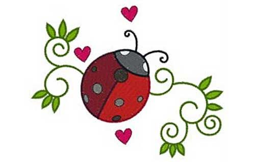 Ladybug Swirls Free Embroidery Design Free Machine Embroidery