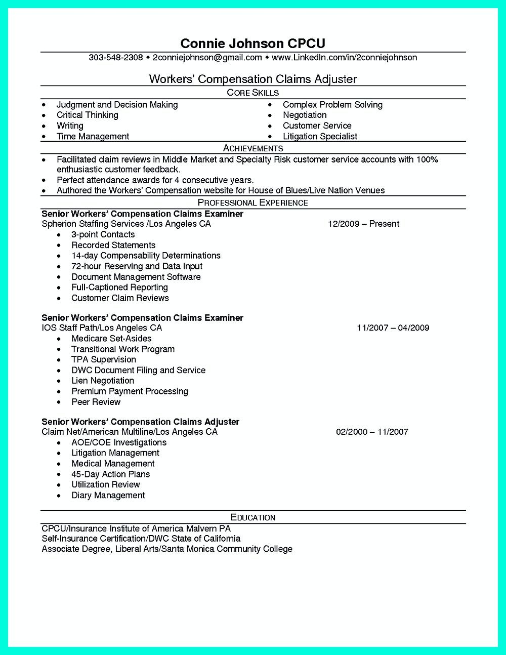 Mention Your Skills In Your Claim Adjuster Resume Job Resume Examples Resume Resume Skills