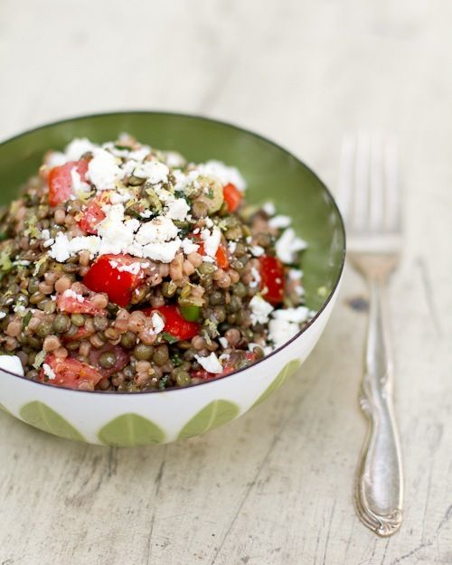 Lentils and Pearl Couscous with Mint