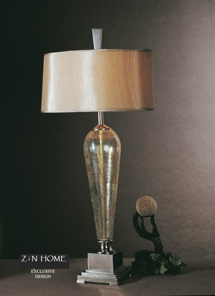 Celine Glass Buffet Table Lamp Table Lamp Gold Table Lamp Lamp