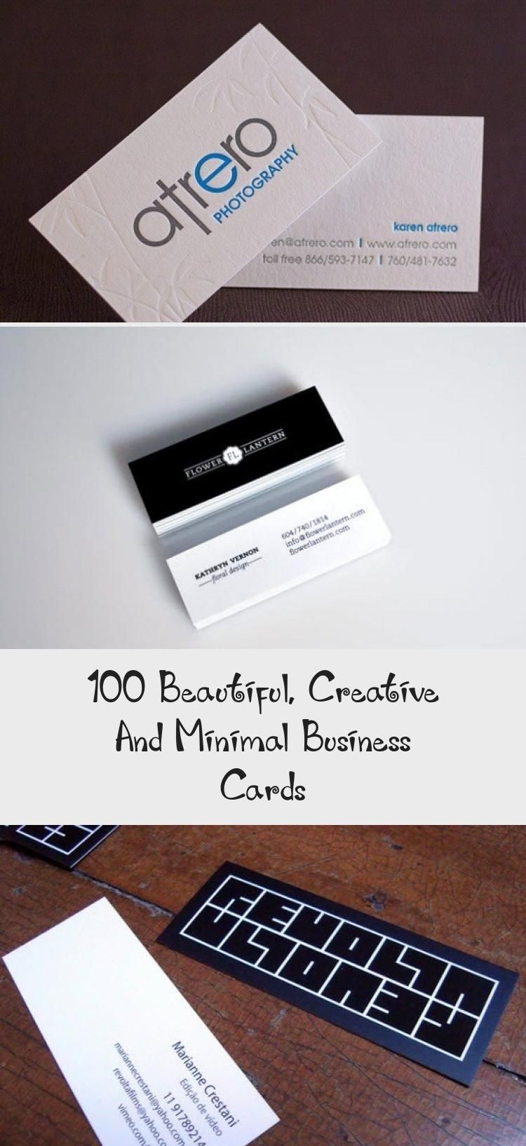 100 Beautiful Creative And Minimal Business Cards In 2020
