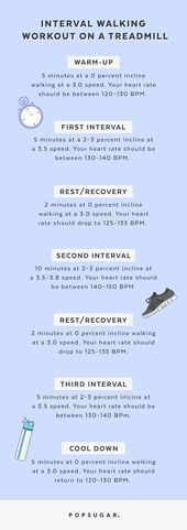 A 34-Minute Interval Walking Treadmill Workout That'll Actually Help You Lose Weight  A 34-Minute In...
