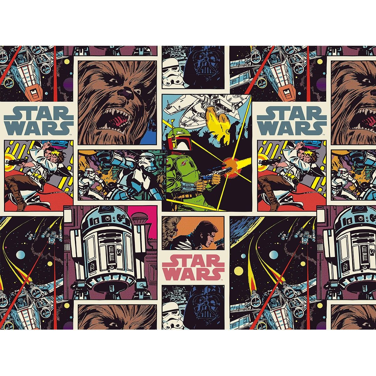Star Wars Comic Book Wallpaper 360 X 270cm Chambre Deco En 2019