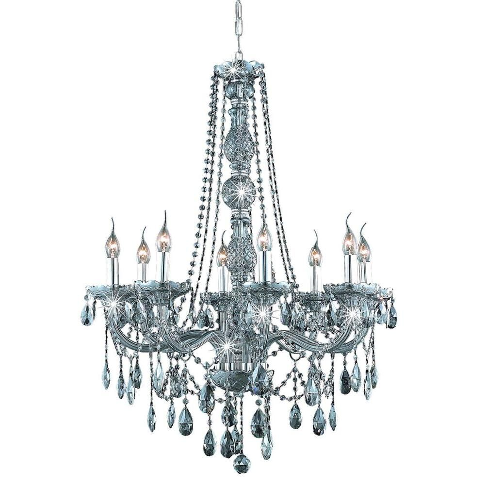 Elegant Lighting Verona Silver Shade Eight Light