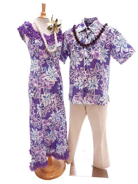 Exclusive] Anuenue Dahlia Purple Poly Cotton Hawaiian Nahenahe ...
