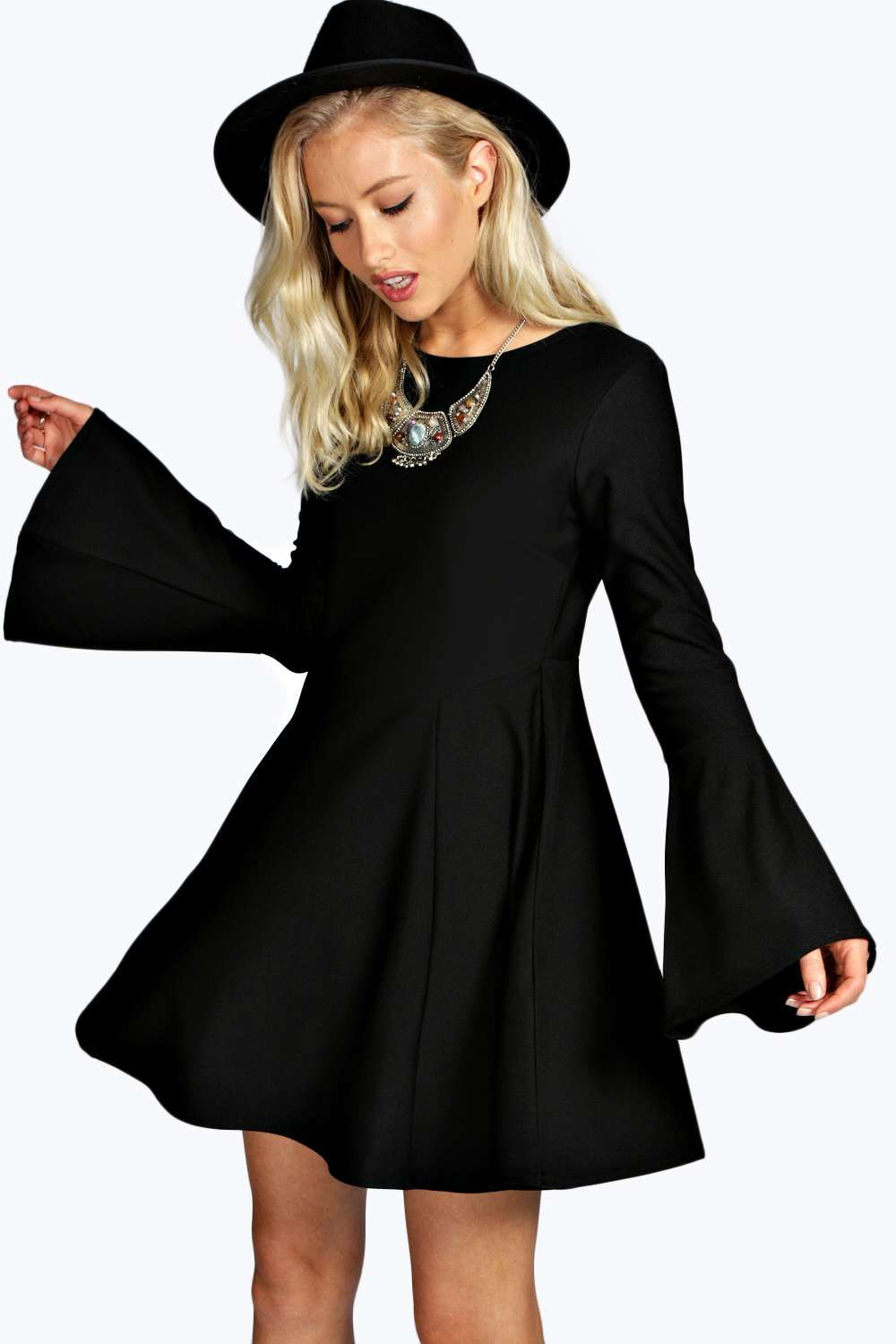 1099436a87e Bell Sleeve Fit and Flare Dress alternative image
