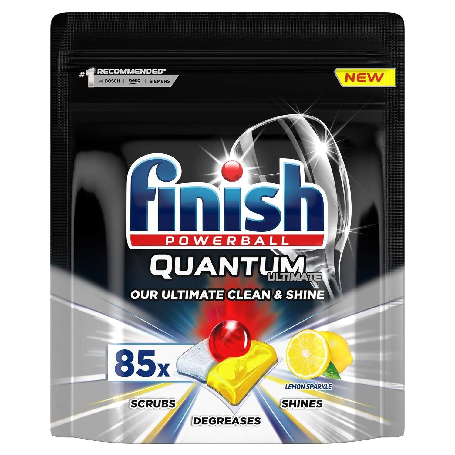 Finish Quantum Ultimate Dishwasher Tablets Lemon 85 Tabs 5 Out Of 5 Stars Via 1 View S Price Dishwasher Tablets Dishwasher Detergent Biodegradable Products