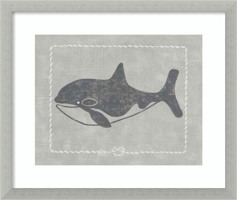 Whale of a Tale II Framed Graphic Art